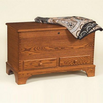 Amish Deep Storage Oak Hope Chest