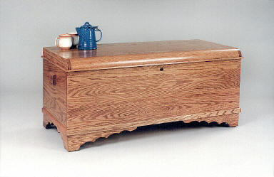 Amish Waterfall Oak Hope Chest
