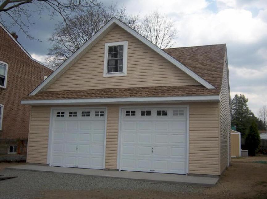25 x 25 detached garage REED Amish Garages