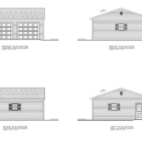 Amish Built Garage BluePrint 280x280 Amish Garages