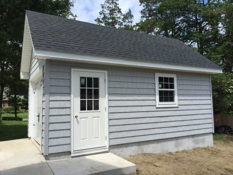 12x20 10 12 and cedar impressions with carriage style garage door4 One Car Amish Garages