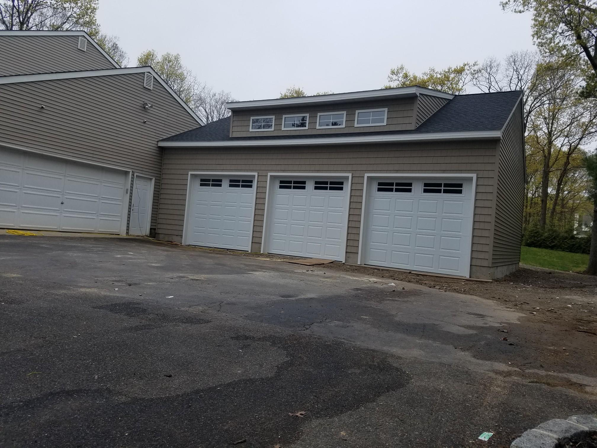 30x36 Amish Built Attached Garage Long Island New York Three Car Garages