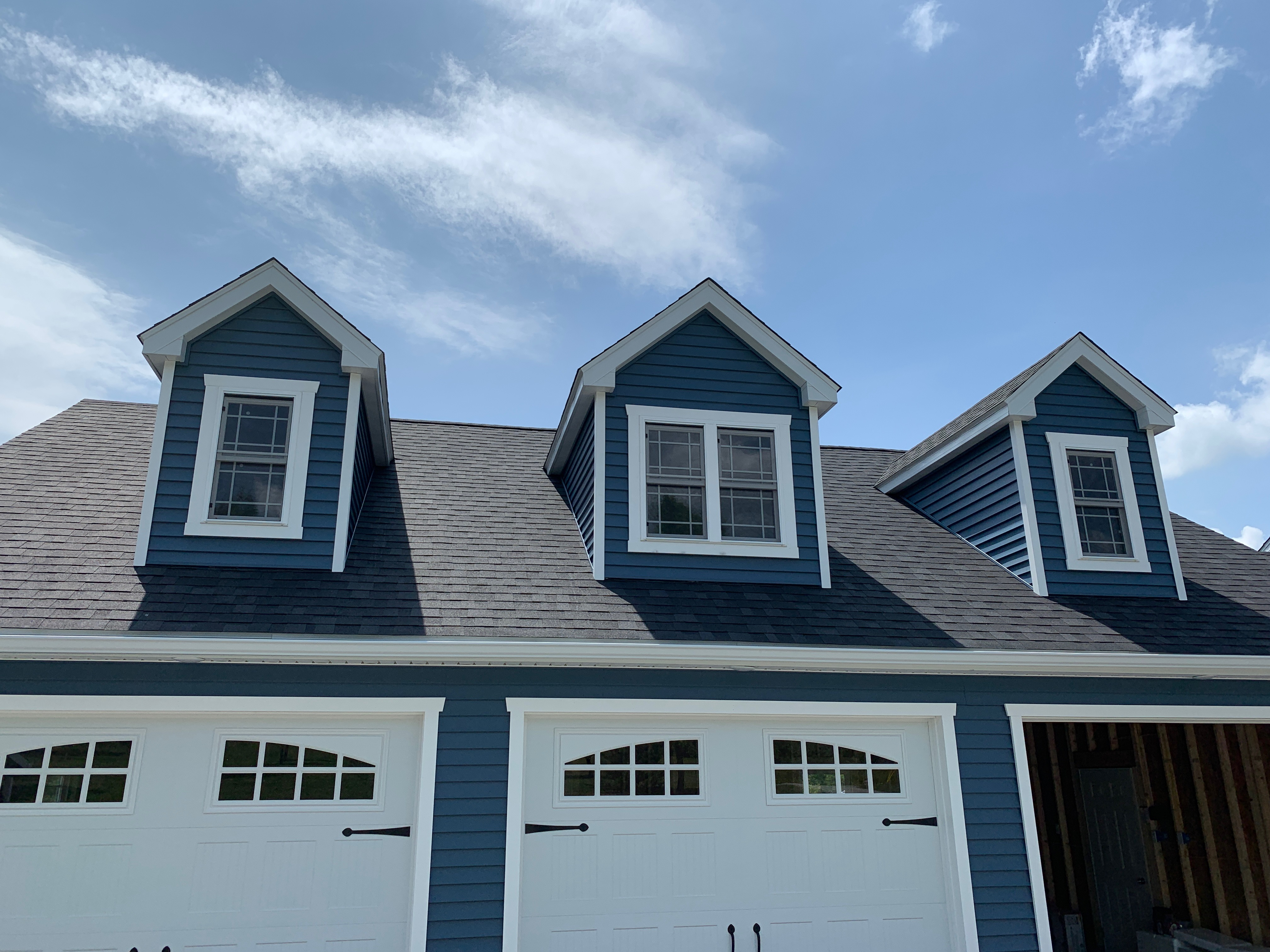 4 foot and 6 foot dormer options Three Car Garages