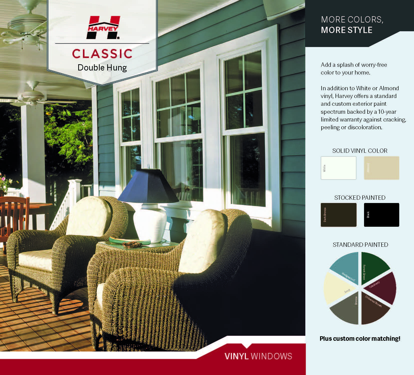 2nd tier window upgrade Colors harvey classic double hung vinyl windows Page 1 Garage Upgrades & Options