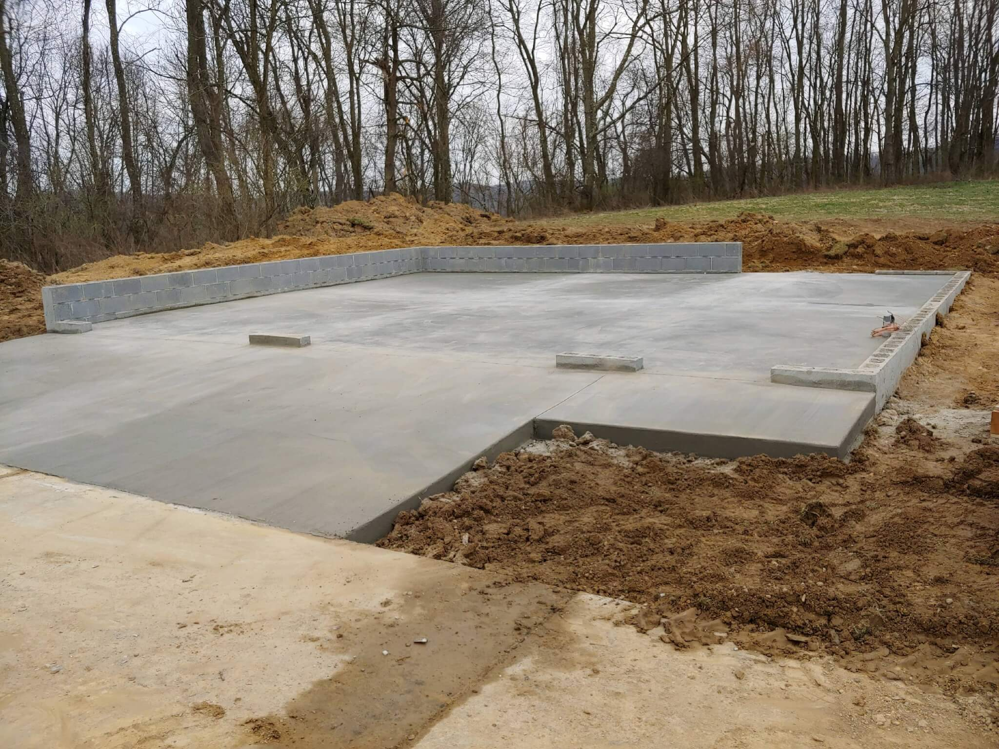 30 x 24 Amish built garage foundation ready for installation 84 PA.oh1  Excavation and Foundations