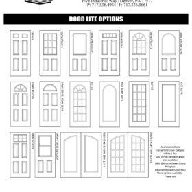 36inch Entry Door Panel Options 280x280 Garage Upgrades & Options