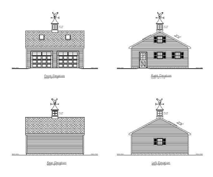 print 24x24 with 8 12 2016 detached garage Blue Prints And Plans